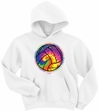 Colorful Tie-Dye Ball White Volleyball Hoodie