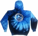 Smiley Face Volleyball Tie-Dye Hooded Sweatshirt - in 4 Bright Colors