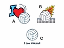 Volleyball <br>Temporary Tattoos