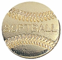 Softball Gold Varsity Pin