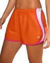 Orange & Pink Champion Double Dry Women's Sport Shorts