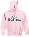 Volleyball Rising Hooded Sweatshirt - in 20 Colors