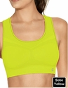 Yellow Champion Double Dry� Seamless Racer-Back Sports Bra