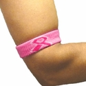 Pink Ribbon Breast Cancer Armbands - 4 Color Options