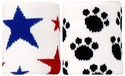 Stars and Paws Terry Cloth Wristbands