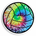 """Large 5-3/4"""" Tie-Dye Volleyball Magnet"""