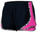 Soffe�s Black & Neon Pink Zebra Pipe Track Shorts