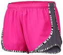 Soffe�s Neon Pink & Metal Grey Zebra Pipe Track Shorts