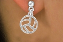 Abstract Volleyball Hanging Post Earrings