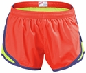 Soffe�s Neon Orange & Yellow w/ Blue Piping Track Shorts