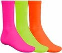 Bright Colorful Crew Socks - in 6 Colors