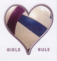 Girls Rule Volleyball Heart Tee