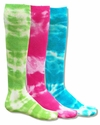 Neon Tie-Dye Tube Socks - in 3 Colors
