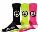 Peace Sign Crew Socks - 6 Color Options