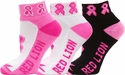 Pink Ribbon Footie Socks - 3 Color Options