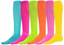 Tube Socks in 6 Bright Colors