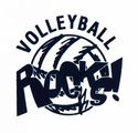 Volleyball Rocks! Design Discount T-Shirt - in 3 Shirt Colors