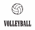 Volleyball Word w/ Ball Discount T-Shirt