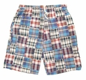 Blue Pattern Madras Boxer Shorts