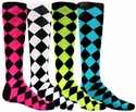 Diamond Jester Knee-High Socks - in 8 Colors
