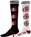 Flaming Soccer Knee High Socks � in 2 Colors