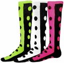 Half & Half Knee High Dot Socks - in 6 Colors