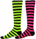 Neon Stripe Knee-High Socks � in 2 Bright Colors