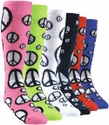 Peace Sign Knee-High Socks - in 9 Colors