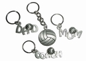 Pewter Volleyball Keychains