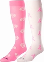 Pink Ribbon Knee-High Socks - in 2 Colors