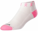 Pink Ribbon White Footie Socks
