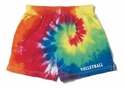 Rainbow Tie-Dye Shorts - Choice of 10 Sport Imprints on Leg