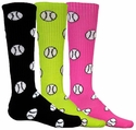 Softball / Baseball Logo Knee High Socks � in 8 Colors