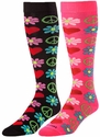 Woodstock Peace & Love Knee High KraziSox - in 2 Colors