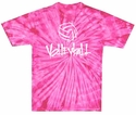 Abstract Volleyball Tie-Dye Tee - in 15 Colors