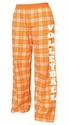 Adult Flannel Pajama Pants - Choice of 22 Sport Imprints on Leg - in many Plaid Colors