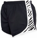 Black & White Zebra Stripe Track Shorts