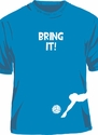 Bring It Volleyball Player Blue T-Shirt