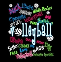 Colorful Graffiti Black Volleyball T Shirt