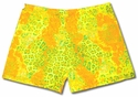 Florescent Yellow Leopard Spandex