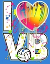 I Heart VB Turquoise Volleyball T-Shirt