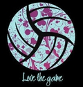 Love The Game Design Black Volleyball T-Shirt