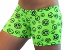 Neon Lime Green Peace Sign Printed Spandex