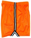 Neon Orange Long Mesh Shorts