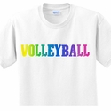 Neon Rainbow Volleyball T-Shirt - in 27 Colors