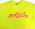 Neon Volleyball Life Safety Green T-Shirt