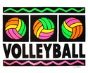 Neon Volleyball Design T-Shirt - in 24 Shirt Colors