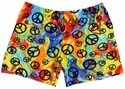 Peace Sign Rainbow Tie-Dye Spandex