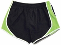 Pennant's Black & Lime Green Team Track Shorts