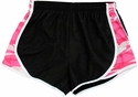 Pennant's Black & Pink Camo Print Team Track Shorts